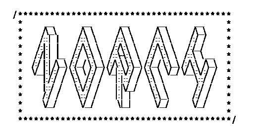 Made a ASCII art-version a bit more dense.